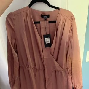 ABS Collection Blush Faux Wrap Dress NWT!